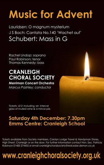 music for advent - cranleigh choral society