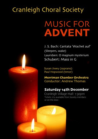 music for advent 2019 - cranleigh choral society