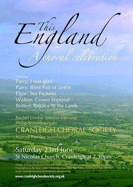 this england - cranleigh choral society