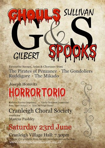 ghouls and spooks - cranleigh choral society
