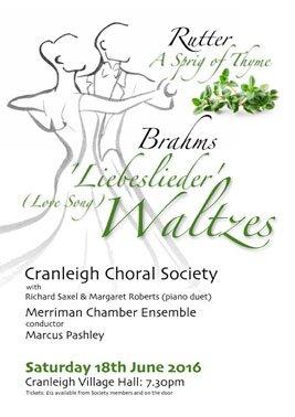 liebesleider waltzes - cranleigh choral society