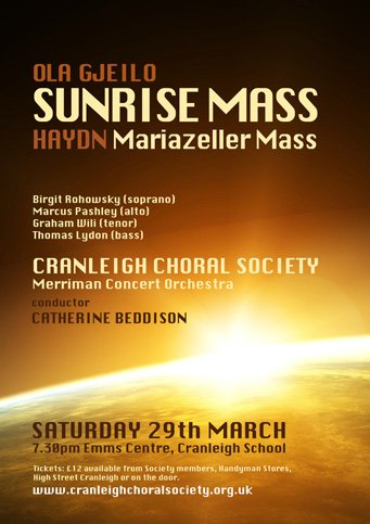 sunrise mass - cranleigh choral society